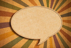Speech bubble on Corkboard Royalty Free Stock Images