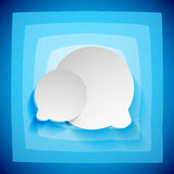 Speech bubble creative abstract background Stock Photography