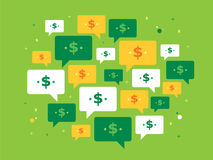 Speech bubble and currency symbol Royalty Free Stock Image