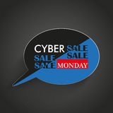 Speech Bubble Cyber Monday Stripes Royalty Free Stock Images