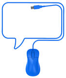 The speech bubble Stock Image