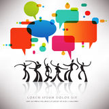 Speech Bubble Dance Background Royalty Free Stock Photography
