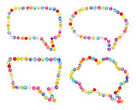 Speech bubble decorate by colorful beads Stock Photo