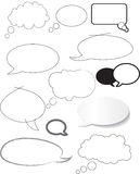 Speech bubble designs in different styles Royalty Free Stock Image