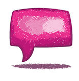 Speech bubble doodle. One big pink speech bubble on white Royalty Free Stock Image