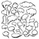 Speech Bubble Doodles Hand Drawn. Vector Royalty Free Stock Photo