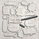 Speech bubble doodles hand drawn. Stock Photo