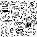 Speech bubble doodles Royalty Free Stock Photography