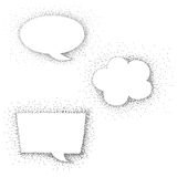 Speech bubble dot paint Stock Photography