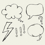 Speech bubble element Royalty Free Stock Images