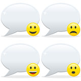 Speech Bubble and Emoticon Stock Images