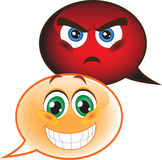 Speech bubble emoticon Royalty Free Stock Images