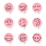 Speech bubble emoticon Stock Photo
