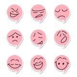 Speech bubble emoticon. On white background vector illustration