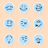 Speech bubble emoticon Stock Photography