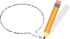 Speech Bubble Empty Pencil Royalty Free Stock Photos