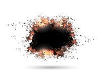 Speech bubble, exploding effect Stock Photos