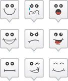 Speech Bubble Faces. Speech bubble icons with various faces Royalty Free Stock Photo