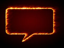 Speech bubble flames. An image of a nice speech bubble flames Stock Photo