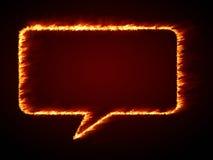 Speech bubble flames Stock Photo