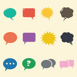 Speech bubble flat Stock Images
