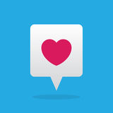 Speech Bubble with Floating Heart Royalty Free Stock Image