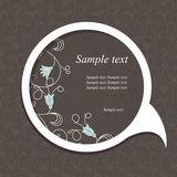 Speech bubble with floral elements Stock Photography