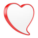 Speech bubble in form heart. Royalty Free Stock Image