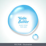 Speech bubble formed from water. Royalty Free Stock Photos