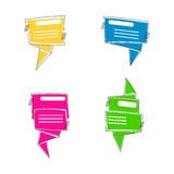 Speech bubble frame set. Quotation box template. Stock Photography