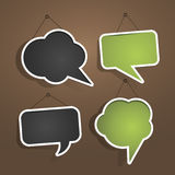 Speech bubble frames on the wall Royalty Free Stock Photo