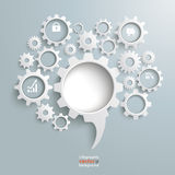 Speech Bubble Gear Machine PiAd Royalty Free Stock Photo