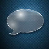 Speech bubble from glass Stock Images