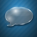 Speech bubble from glass Royalty Free Stock Photography
