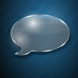 Speech bubble from glass Royalty Free Stock Photo