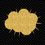 Speech Bubble Gold Glossy Background Vector Illustration Royalty Free Stock Photography
