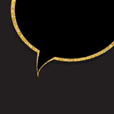 Speech Bubble Gold Glossy Background Vector Illustration Stock Images