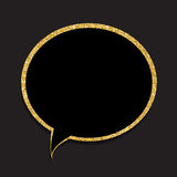 Speech Bubble Gold Glossy Background Vector Illustration Stock Photos