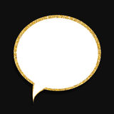 Speech Bubble Gold Glossy Background Vector Illustration Royalty Free Stock Photos