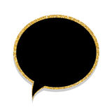 Speech Bubble Gold Glossy Background Vector Illustration Royalty Free Stock Photo