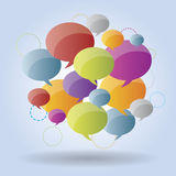 Speech bubble group Royalty Free Stock Images