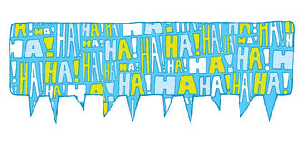 Speech bubble group laughter Royalty Free Stock Photos