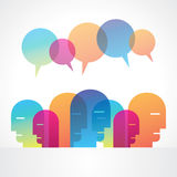 Speech bubble and group of people Royalty Free Stock Images
