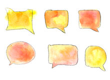 Speech bubble. Hand drawn watercolor  speech bubble Stock Images