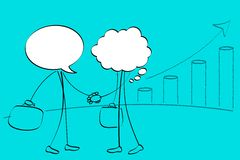 Speech Bubble Handshaking Stock Images