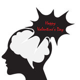 Speech bubble happy valentine's day card. Speech bubble valentine's day card vector illustration