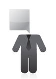 Speech bubble head icon illustration design Royalty Free Stock Photography