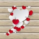 Speech Bubble Hearts Wood Stock Photos