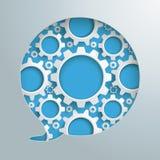 Speech Bubble Hole Gears Stock Photography