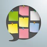 Speech Bubble Hole Stickers Thumbtacks Stock Photography